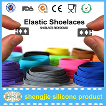 Amazon hot selling durable colorful elastic rubber shoelace with lace lock
