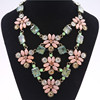 Dress Accessories Crystal Flower Necklaces Fashion Jewelry Women Flower Necklace SN-043