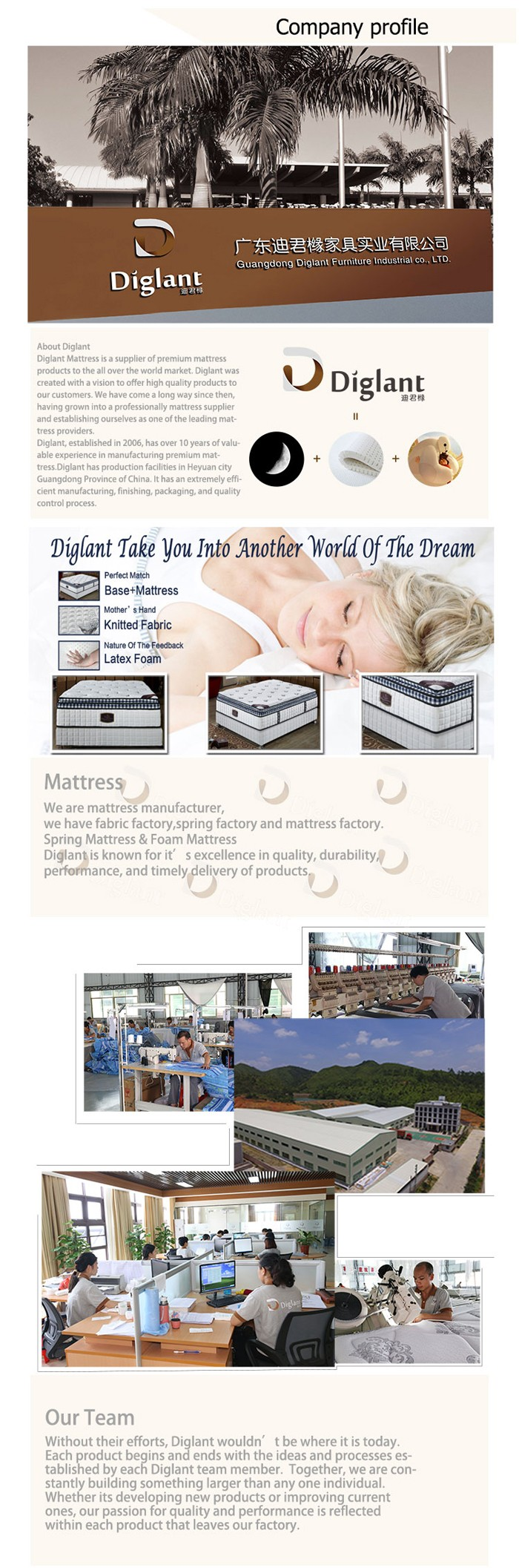 Home furniture manufacturer adult travel folding memory foam mattress