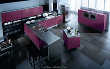 Italian simple designs mdf flat pack modular kitchen cabinets furniture