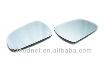 Facelifted Blue Tinted Aspherical Side Mirror Set For Audi A4 B8