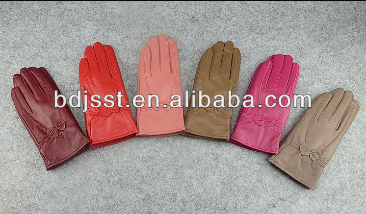 Luvas de couro meninas fábrica da China
