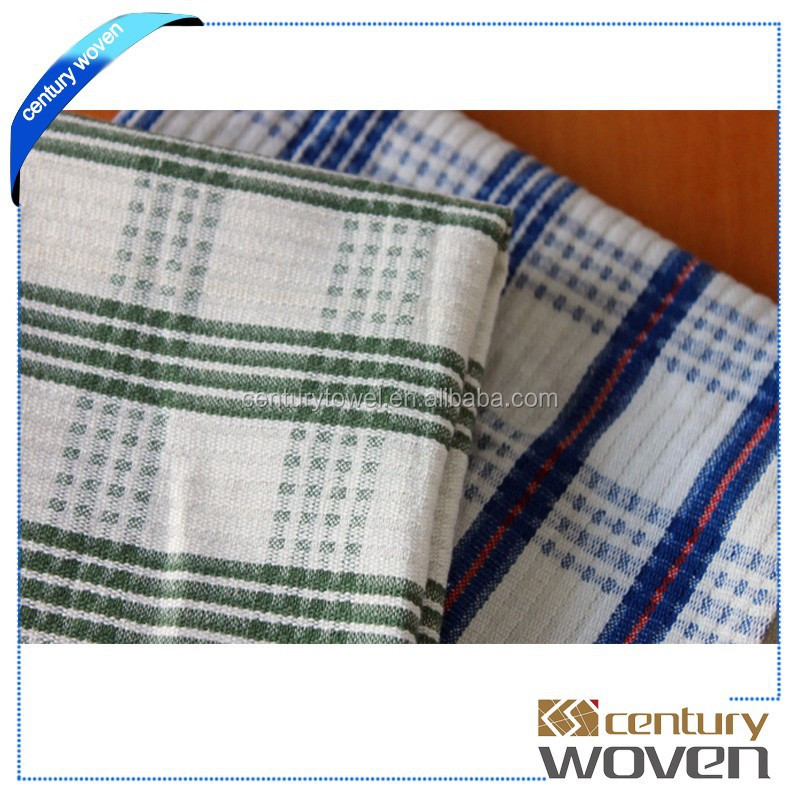 China supplier plain linen wafflle checked tea towel