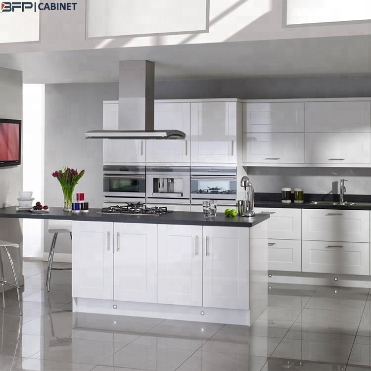 Shaker White Glossy Complete Kitchen Set
