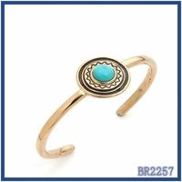 2016 statement cheap bulk turquoise material type jewelry ! south indian style gold plated fancy bangles with zinc alloy