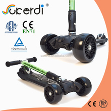 Tilt to turn kickboard with a joystick style steering mechanism three wheel scooter price