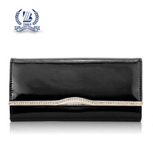 metal frame fold woman wallet and purse wholsale