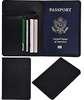 Business Travel Personalized Leather Men's Passport Card Holder Wallet