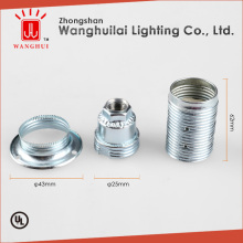 CE E14 galvanized iron screw lamp holder with ring