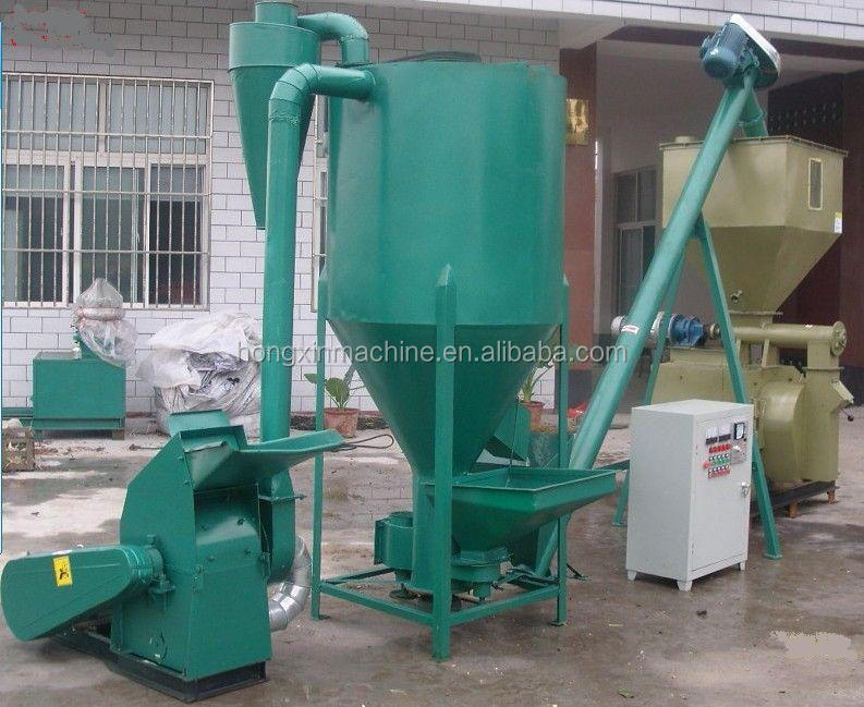 Animal feed crusher and mixer/poultry feed grinding machine/poultry feed processing line 0086-15238010724