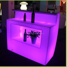 New design led plastic portable special cafe night club bar counter furniture