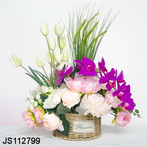 Home art chinese ikebana flower decoration floral arrangement flower pot