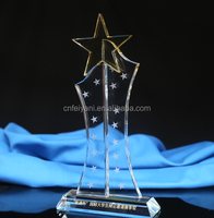 Rectangle shape crystal trophies and Glass Trophy
