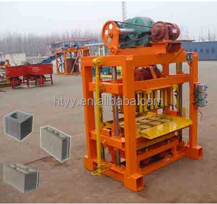 QT4-40 China famous brand factory price concrete block molding machine,Simple hollow block making machine