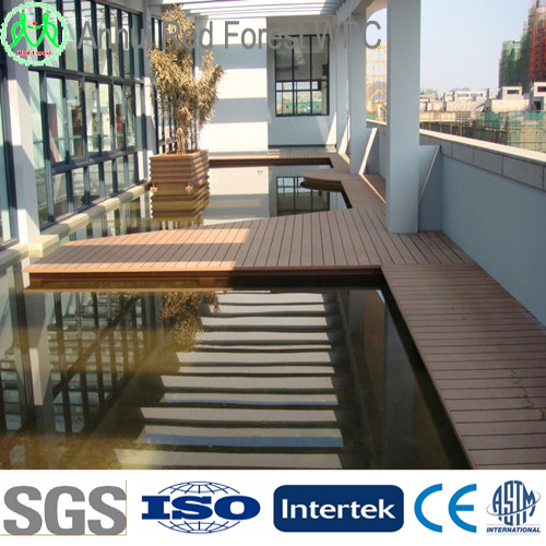 Anhui china wpc outdoor cheap composite decking tiles for Cheap composite decking
