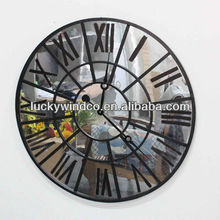 Description for Waste Material Art Craft Round Vintage Metal Wall Clock