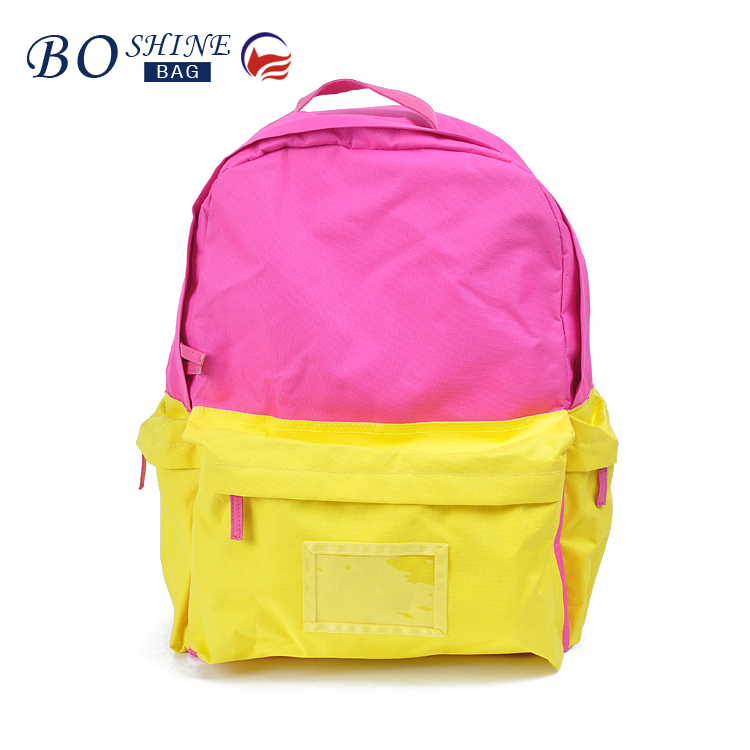 Wholesale 600D kids backpack Sweet Collapsible School Bag New Style PU Sports Kids Backpack