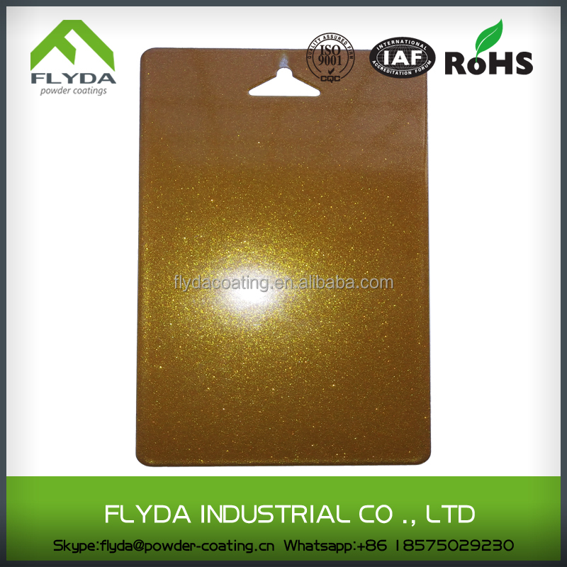 Gold metallic powder coating color spray paint