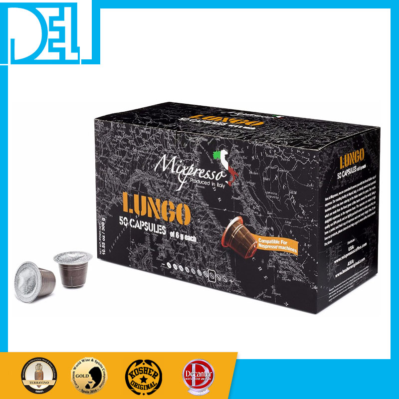 Natural Italy Import Kosher LUNGO Espresso 50 Instant coffee