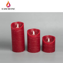 Custom made home decoration dancing red moving wick warmer flameless candle