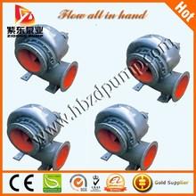 Large volume horizontal volute mixed flow pump