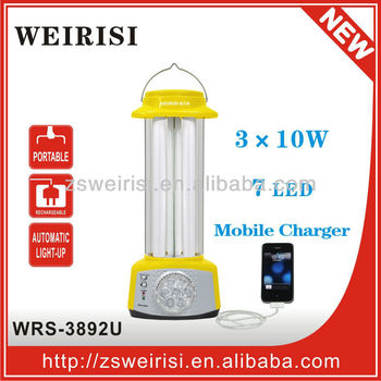 Rechargeable Camping Light with LED Torch & Mobile Charge (WRS-3892U)