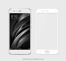 Mi6 full cover screen protector blue carbon fiber edge tempered glass screen protector for Xiaomi Mi 6