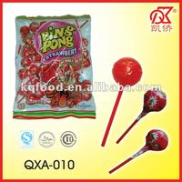 20g Fruity Bubble Gum Lollipop Confectionery Products