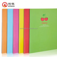 N277-B Office stationery plain white paper cover notebook,notebook 1 line 80 pages,full scape notebook
