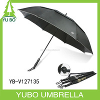 Backpack golf umbrella doubler layer air vent windproof golf umbrella