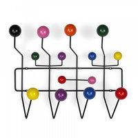 Colorfull Solid Wood Ball Wall-mounted Coat Rack
