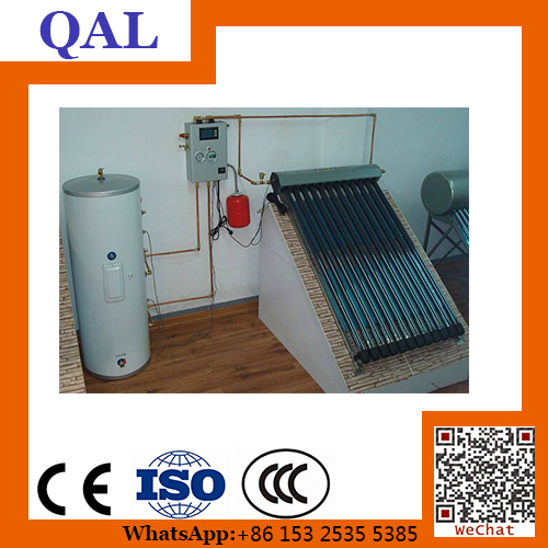 Copper coil heat exchanger solar water heaters with auto feeding tank