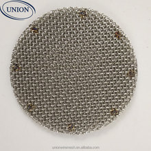 wire cloth screen packs for filteration spot welded