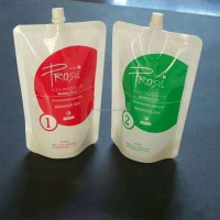 shiny packaging pouch food packets moisture proof bags stand up pet spout pouch for body lotion