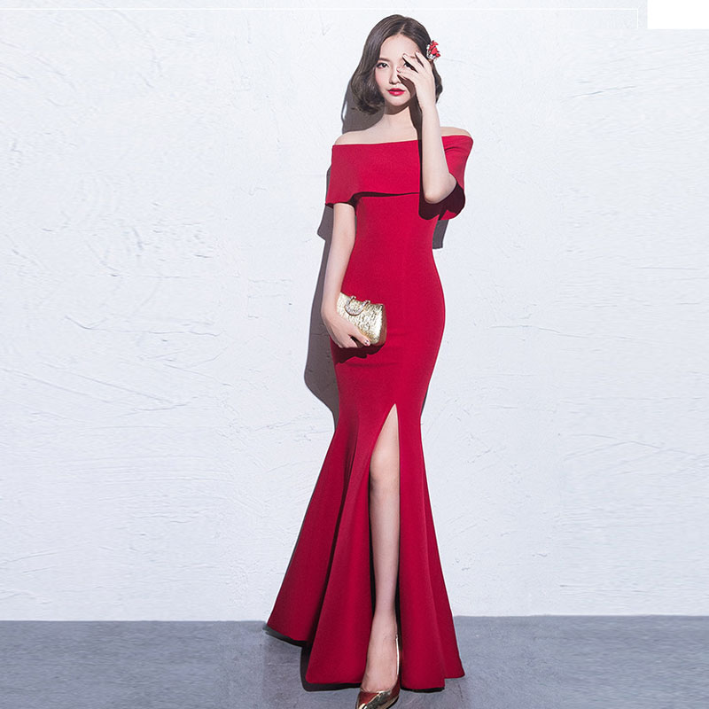 Sexy Cheap Off Shoulder Design Mermaid Evening Party Dress Long 2018 For Wholesale