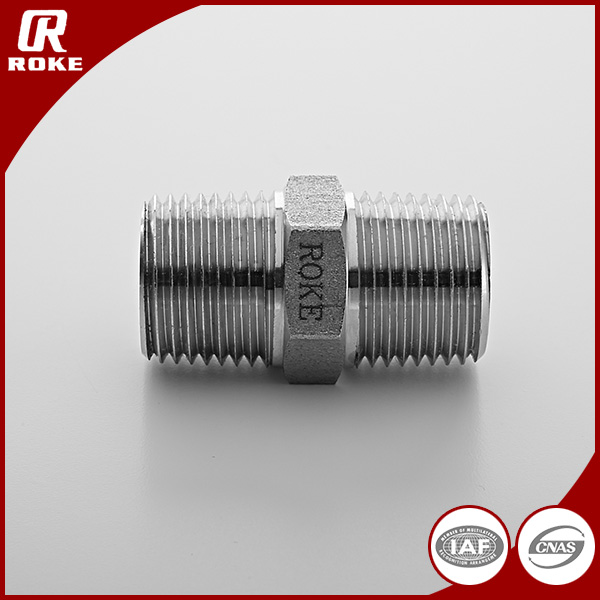hexagon nipple screwed pipe fitting male thread adapter