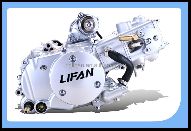 Water Cooled 125cc Lifan Engine For Motorcycle  Lifan