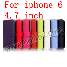 Fashion Wallet Style Magnetic Flip Stand Leather Cover for iPhone 6 Korea Case