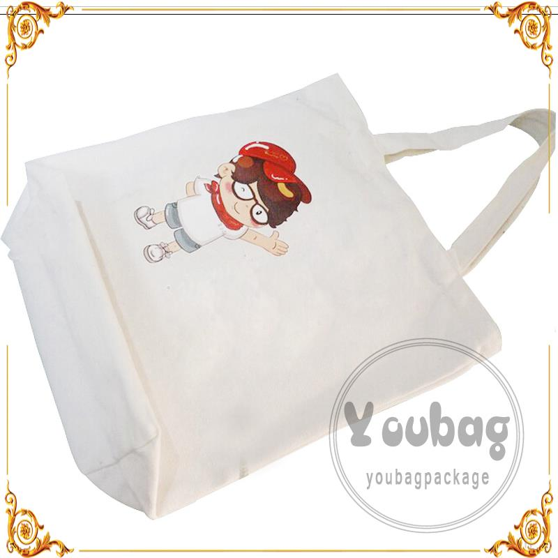 Hot sale machine made 14 oz canvas shipping bag hot sell on alibaba With Twist Paper Handle