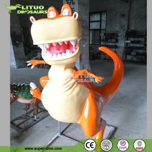 Christmas Decoration Fiberglass Figures Cartoon Dinosaur Statue For Sale