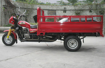 Motorbike with Three Wheels for Cargo or Passenger
