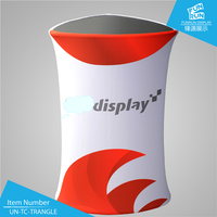 Triangle-shaped Portable Aluminum Tube Exhibition Tension Fabric Display Counter