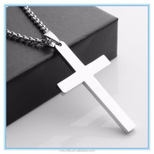 MECYLIFE cheap price stainless steel blank cross promotional pendant