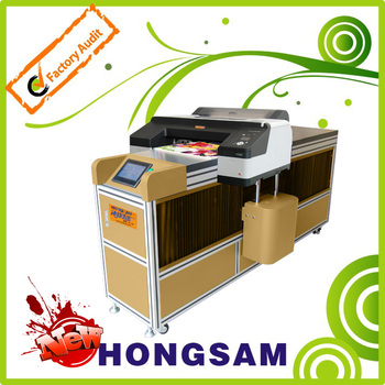 Hong-Jet 8410 T-shirts printer with three flatbeds