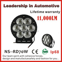 Hot selling 70W led driving light ,heavy duty work light with Cree chip with lifetime warranty & IP68 waterproof