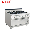 Commercial Cooking Equipment 6 burner gas stove with oven