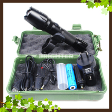 HWP009 XM-L T6 USB LED Zoomable 2500Lm 18650 Rechargeable Battery Flashlight Torch