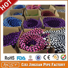 Alibaba Factory Supply 1.8M FDA Food Grade Colorful Bright Flexible Shisha Hookah Silicone Hose