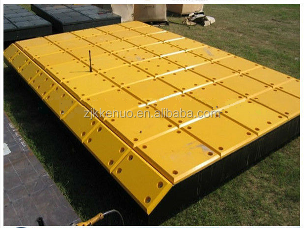 UHMWPE Outdoor Crane Protection Mat / Outriggers Pads / Temporary Roadways from China