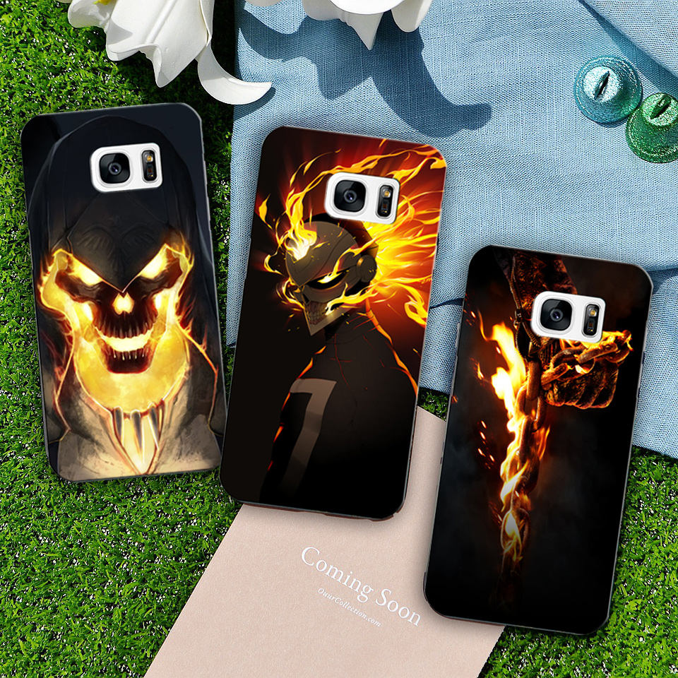 Factory Price Ghost Rider for samsung s6 edge case phone TPU Protective Back Phone Case